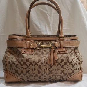 Large  Authentic Coach Signature Handbag